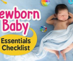 New born essentials checklist (Indian version)